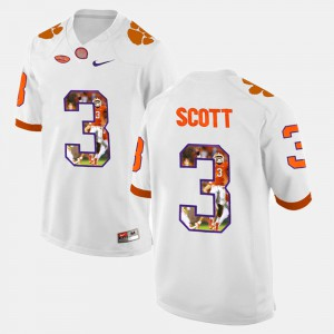 Men's Clemson Tigers Player Pictorial #3 Artavis Scott college Jersey - White