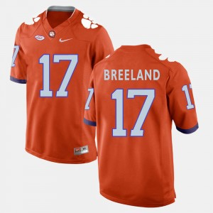 Men Football Clemson National Championship #17 Bashaud Breeland college Jersey - Orange