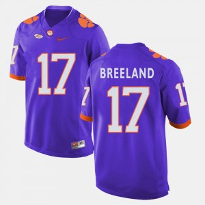 Men's #17 Clemson Tigers Football Bashaud Breeland college Jersey - Purple