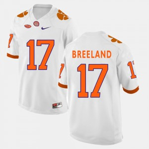 Men's #17 Clemson Tigers Football Bashaud Breeland college Jersey - White