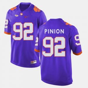 Men's #92 Football CFP Champs Bradley Pinion college Jersey - Purple