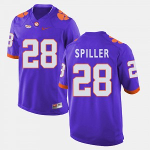 Mens Clemson Tigers Football #28 C.J. Spiller college Jersey - Purple