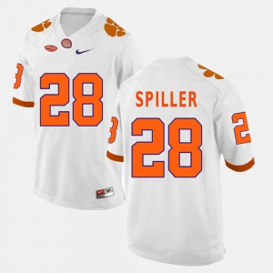 Men's Football #28 Clemson National Championship C.J. Spiller college Jersey - White