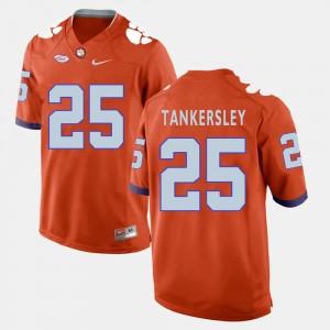 Men Football #25 Clemson Tigers Cordrea Tankersley college Jersey - Orange
