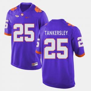 Men #25 Clemson Tigers Football Cordrea Tankersley college Jersey - Purple