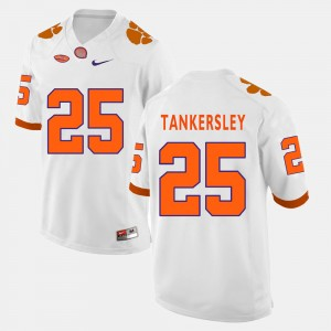 Men #25 Clemson Football Cordrea Tankersley college Jersey - White