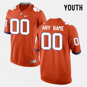 Youth Clemson #00 Limited Football college Custom Jersey - Orange