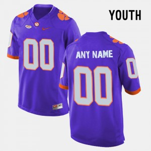 Youth(Kids) #00 Limited Football Clemson Tigers college Customized Jersey - Purple