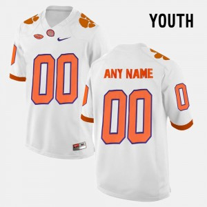 Kids #00 Clemson Limited Football college Customized Jersey - White