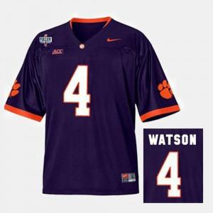 Men Clemson #4 Football Deshaun Watson college Jersey - Purple