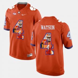 Mens Pictorial Fashion #4 CFP Champs DeShaun Watson college Jersey - Orange
