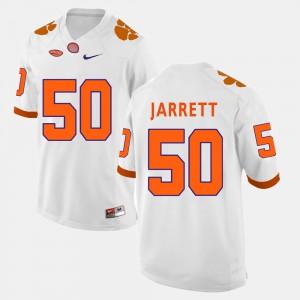 Men's Football Clemson Tigers #50 Grady Jarrett college Jersey - White