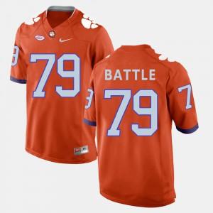 Mens #79 Clemson National Championship Football Isaiah Battle college Jersey - Orange
