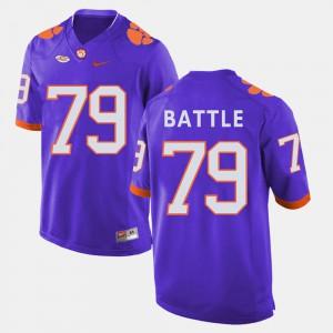 Mens #79 Football CFP Champs Isaiah Battle college Jersey - Purple