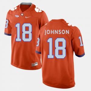 Men's Football Clemson Tigers #18 Jadar Johnson college Jersey - Orange