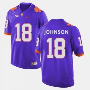 Mens #18 Clemson National Championship Football Jadar Johnson college Jersey - Purple