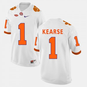 Men's #1 Jayron Kearse college Jersey - White Football Clemson