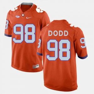 Men Football CFP Champs #98 Kevin Dodd college Jersey - Orange