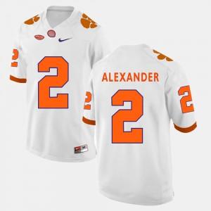 Men's Football Clemson National Championship #2 Mackensie Alexander college Jersey - White