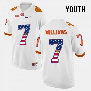 Kids US Flag Fashion #7 CFP Champs Mike Williams college Jersey - White