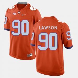Men's #90 Clemson University Football Shaq Lawson college Jersey - Orange