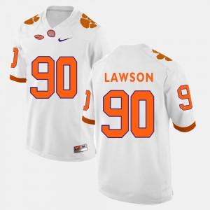 Men Football #90 Clemson Tigers Shaq Lawson college Jersey - White