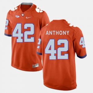 Men's Clemson National Championship Football #42 Stephone Anthony college Jersey - Orange
