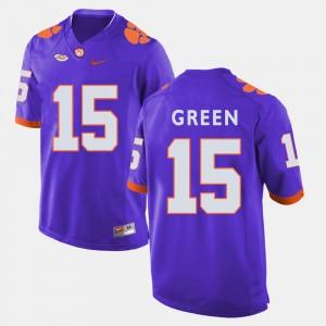 Men's Football #15 Clemson T.J. Green college Jersey - Purple
