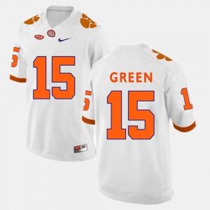 Men's Football #15 Clemson T.J. Green college Jersey - White