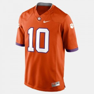 Men Clemson Tigers Football #10 Tajh Boyd college Jersey - Orange