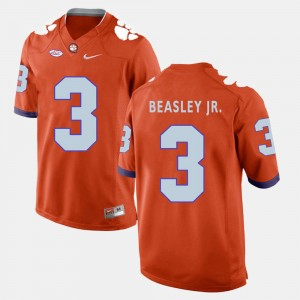 Men #3 Football Clemson Vic Beasley Jr. college Jersey - Orange