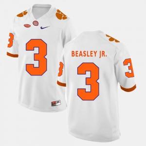 Men Football #3 Clemson University Vic Beasley Jr. college Jersey - White