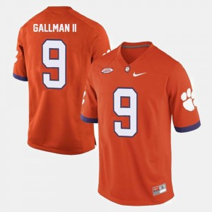Men's #9 Clemson University Football Wayne Gallman II college Jersey - Orange