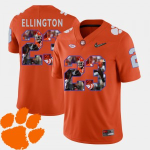 Men's Football #23 Clemson Tigers Pictorial Fashion Andre Ellington college Jersey - Orange
