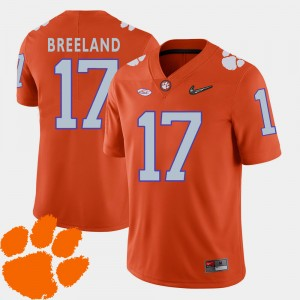 Men Football Clemson University #17 2018 ACC Bashaud Breeland college Jersey - Orange