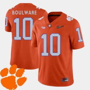 Men 2018 ACC Football #10 CFP Champs Ben Boulware college Jersey - Orange