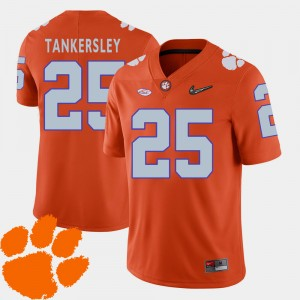 Mens #25 Clemson Tigers 2018 ACC Football Cordrea Tankersley college Jersey - Orange