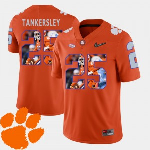 Men #25 Cordrea Tankersley college Jersey - Orange Pictorial Fashion Football Clemson