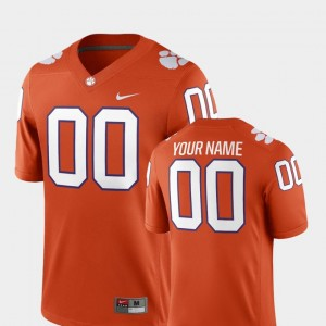Mens Clemson Football 2018 Game #00 college Customized Jerseys - Orange