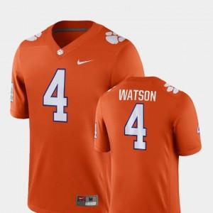 Men's Clemson National Championship Game #4 Football Deshaun Watson college Jersey - Orange