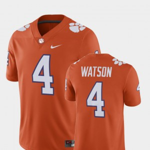 Men's Alumni Football Game Clemson Tigers Player #4 Deshaun Watson college Jersey - Orange