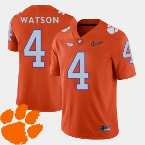 Men's 2018 ACC Football Clemson Tigers #4 DeShaun Watson college Jersey - Orange