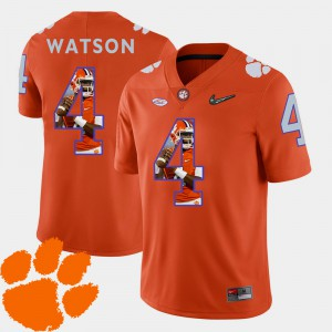 Men's Clemson Tigers #4 Pictorial Fashion Football DeShaun Watson college Jersey - Orange