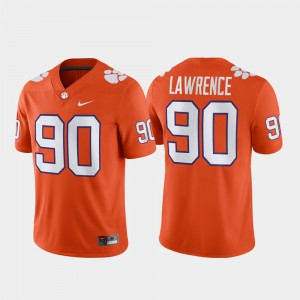 Mens Clemson University #90 Alumni Football Game Dexter Lawrence college Jersey - Orange