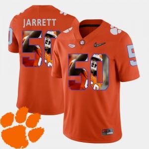 Men Football Pictorial Fashion Clemson Tigers #50 Grady Jarrett college Jersey - Orange