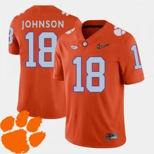 Men's Football Clemson University #18 2018 ACC Jadar Johnson college Jersey - Orange