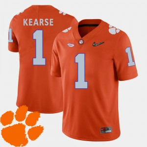 Men #1 Jayron Kearse college Jersey - Orange Football 2018 ACC Clemson National Championship