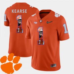 Men Pictorial Fashion Clemson Tigers Football #1 Jayron Kearse college Jersey - Orange