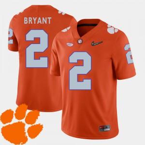 Men's 2018 ACC #2 Clemson University Football Kelly Bryant college Jersey - Orange
