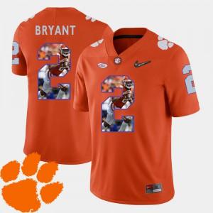 Men's Football Pictorial Fashion #2 Clemson National Championship Kelly Bryant college Jersey - Orange
